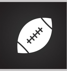 american football icon on black background for vector image