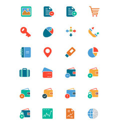 Banking and Finance Colored Icons 5 vector