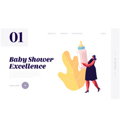Bashower event celebration website landing page vector