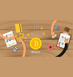 Bitcoin business investment crypto currency profit vector