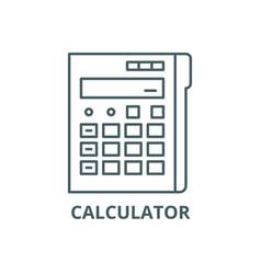 calculator line icon calculator outline vector image