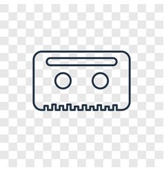 cassette concept linear icon isolated on vector image