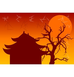 Chinese architecture vector