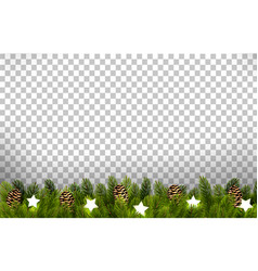 Christmas holiday board with branches tree and vector