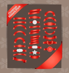 Christmas Ribbons vector image