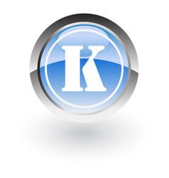 circle letter k icon logo vector image