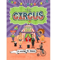Circus poster design - Coming To Town vector