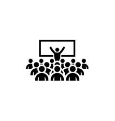 coaching icon business concept vector image