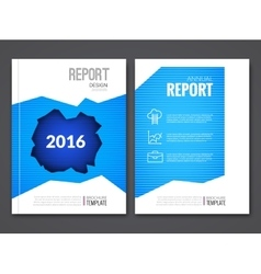 Cover Report Business Blue Hole Geometric pattern vector