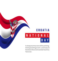 Croatia national day template design vector