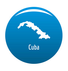 Cuba map in black simple vector