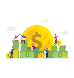 Earn money online concept with people use vector