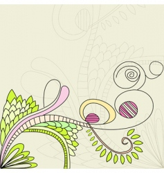 floral element vector image vector image