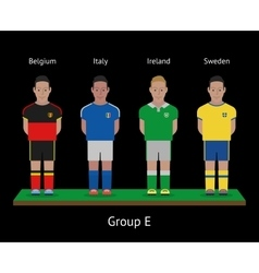 Football players Soccer teams Belgium Italy vector image