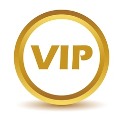 Gold vip icon vector