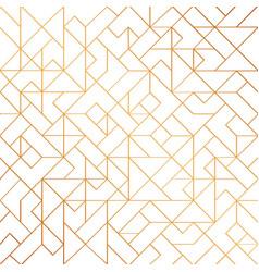 golden art deco seamless pattern background vector image