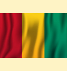 guinea realistic waving flag national country vector image