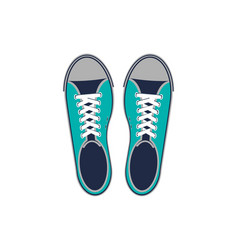 hipster sneakers isolated icon vector image