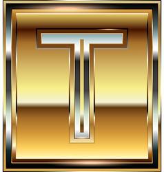 Ingot Font Letter T vector image