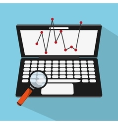 Laptop lupe and Worktime design vector