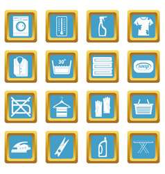 laundry icons azure vector image