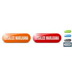 Legalize marijuana button key sign push button set vector