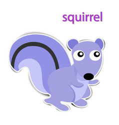 lovely paper squirrel on white background vector image
