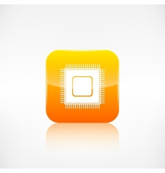 Microchip web icon Application button vector