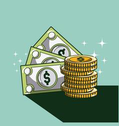 Money and savings cartoons vector