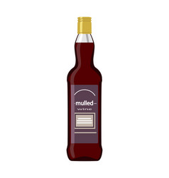Mulled wine bottle isolated on white background vector