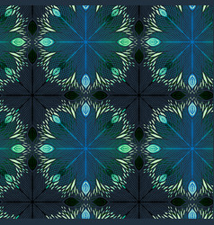 neon seamless background with mandala ornament vector image