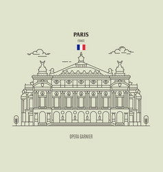 Opera garnier in paris vector
