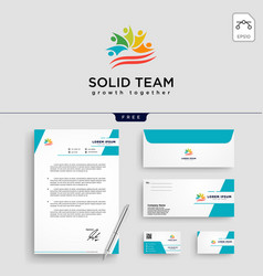 people community logo template vector image