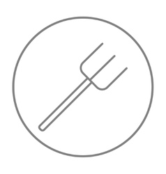 Pitchfork line icon vector image