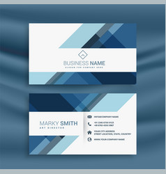 Professional blue business card template design vector
