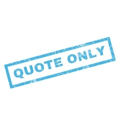 Quote Only Rubber Stamp vector