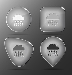Rain glass buttons vector
