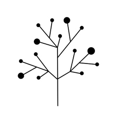 Ramifications tree with stem and branches vector