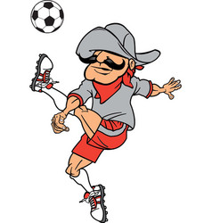 Rebel sports logo mascot soccer vector