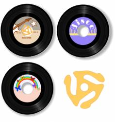 Retro 45 rpm record labels vector