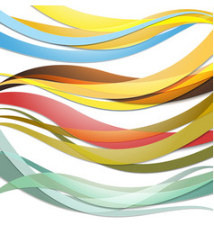 Set of Colored waves Abstract template vector image