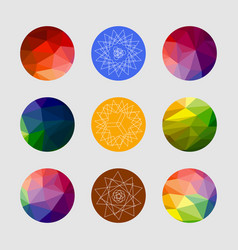 set of geometric shapes geometric background vector image