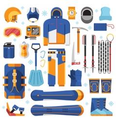 Snowboard Equipment Set vector image