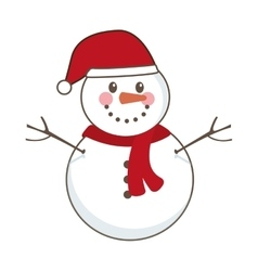 snowman character icon isolated vector image