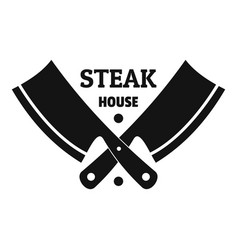 Steak house logo simple style vector