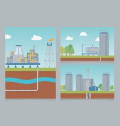 storage industry petroleum process exploration vector image