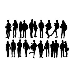 Student activity silhouettes vector