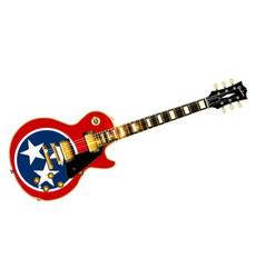Tennessee flag guitar guitar vector