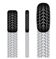 Tire track set 4 vector image