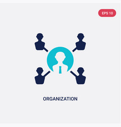 two color organization icon from digital economy vector image